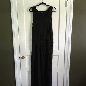 Faded Glory Black Maxi Dress, Medium